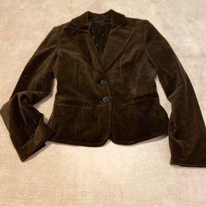 Express Design Studio velvet blazer in brown